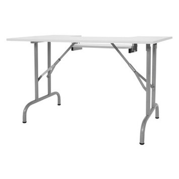 Offex Home Indoor Adjustable Height Folding Multipurpose Sewing Table