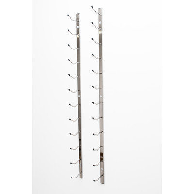 Vintageview Wall Series 30 Bottle Wall Mounted Wine Bottle Rack Finish: Black Chrome