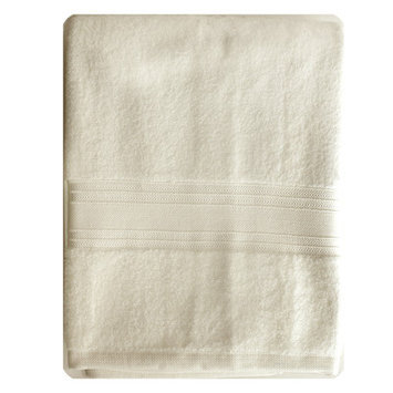Homewear Linens Riviera Bath Towel Color: Ivory