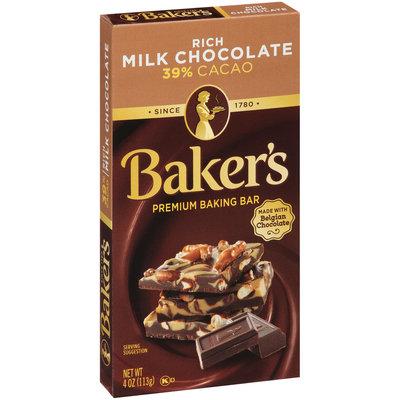Baker's Rich Milk Chocolate Premium Baking Bar 4 oz. Box