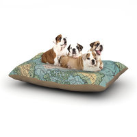 East Urban Home Catherine Holcombe 'Voyage' Map Dog Pillow with Fleece Cozy Top Size: Large (50
