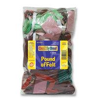 Chenille Kraft Pound of Felt, Assorted Size/Shape Remnants, Multicolored
