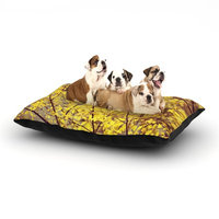 East Urban Home Ingrid Beddoes 'Autumn Yellow' Dog Pillow with Fleece Cozy Top Size: Small (40