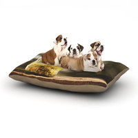 East Urban Home Angie Turner 'Jar of Sunshine' Country Dog Pillow with Fleece Cozy Top Size: Large (50