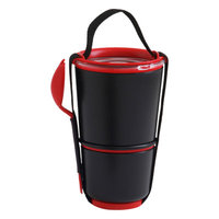 Black + Blum 28.5 oz. Lunch Pot with Spork Color: Black