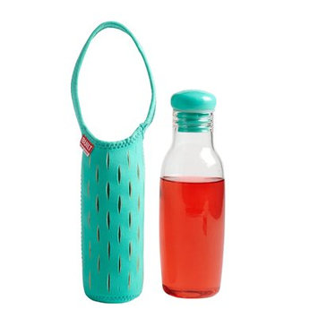 Built Glass Water Bottle with Neoprene Carrying Sleeve, 17 oz - Mint