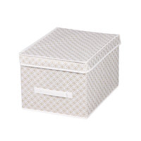 Home Basics® Blossom Large Metallic Storage Box with Lid in Gold