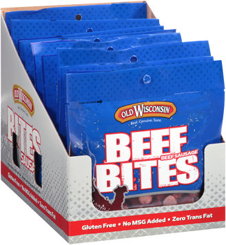 Old Wisconsin® Beef Bites Beef Sausage Snacks 12-3.5 oz. Pouches