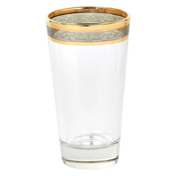 Lorren Home Trends Melania High Ball 10 Oz. Glass Highball Glasses Color: Smoke