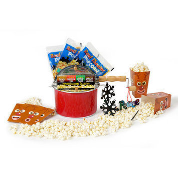 Wabash Valley Farms 9 Piece Holiday Popcorn Featuring the Limited Edition Holiday Red Whirley Pop Set