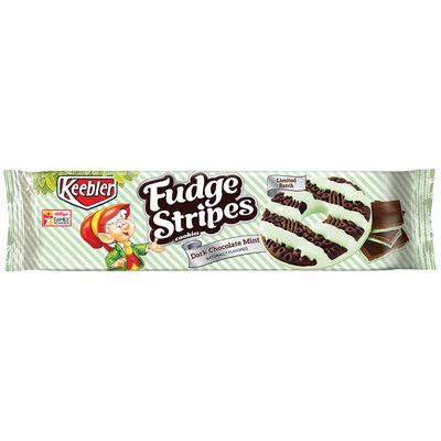 Keebler Fudge Stripes Dark Chocolate Mint Cookies
