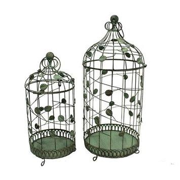 Kohls 2-piece Metal Garden Round Birdcage Set (Green)