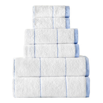 Rokahome Stripes 6 Piece Towel Set Color: Blue