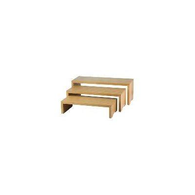 Tablecraft Bamboo 3 Piece Cascade Riser Set
