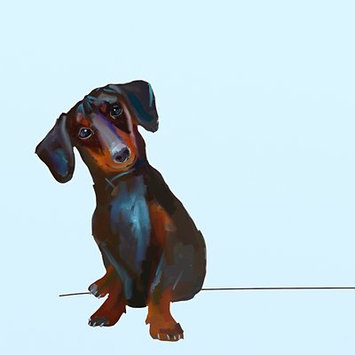 Greenbox Art 'Best Friend - Tippy the Dachshund' by Cathy Walters Print of Painting on Canvas Size: 10