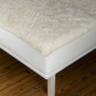 Sleep & Beyond Washable and Reversible myDual Wool/ Cotton Mattress Pad