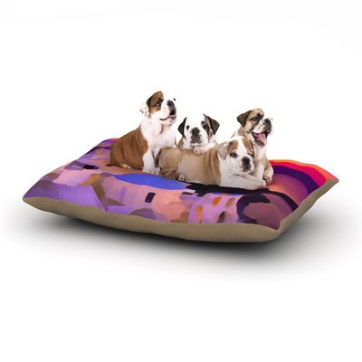 East Urban Home Oriana Cordero 'My Konos' Sunset Dog Pillow with Fleece Cozy Top Size: Small (40