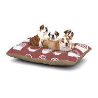 East Urban Home Alik Arzoumanian 'Coffee Ring' Dog Pillow with Fleece Cozy Top Size: Large (50