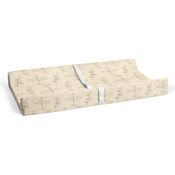 Harriet Bee Phaeton Airplanes Natural Changing Pad Cover