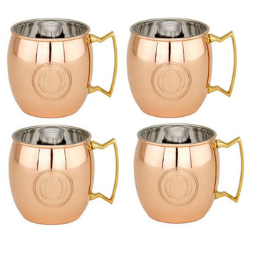 Old Dutch Copper Monogrammed 16 oz. Moscow Mule Mug Letter: O