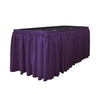 La Linen Table Skirt Color: Purple