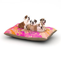 East Urban Home Ebi Emporium 'Free Your Mind Pink' Dog Pillow with Fleece Cozy Top Size: Small (40