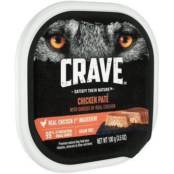 Crave™ Chicken Pate Premium Dog Food 3.5 oz. Tray