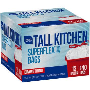 Smart Sense® Superflex® 13 Gallon Tall Kitchen Drawstring Trash Bags 140 ct Box