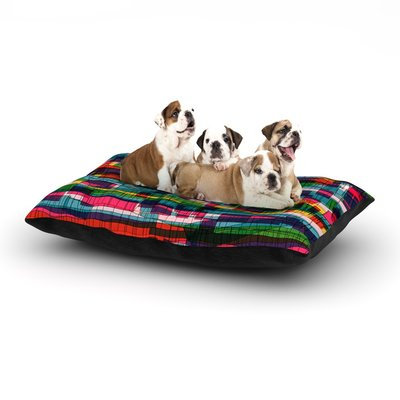 East Urban Home Frederic Levy-Hadida 'Squares Traffic' Dog Pillow with Fleece Cozy Top Color: Pastel, Size: Large (50