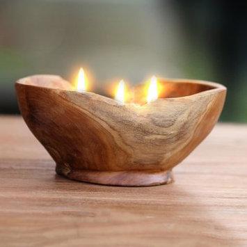 Novica Flame Shrine Wood Votive Candle