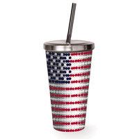 Latitude Run Demitri American Flag Travel Tumbler