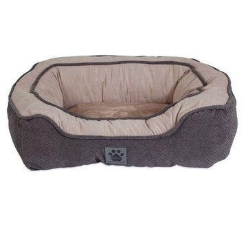 Precision Pet Modern Daydreamer Bolster Dog Bed Color: Gray, Size: 19