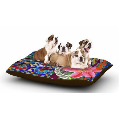 East Urban Home S Seema Z 'Lily Explosion' Dog Pillow with Fleece Cozy Top