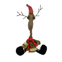 The Holiday Aisle Fabric Reindeer Stuffed Holiday Accent