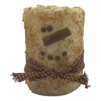 Starhollowcandleco Snowman Primitive Pillar Candle Size: 6