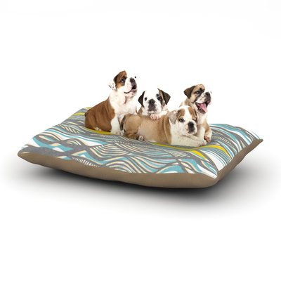 East Urban Home Gill Eggleston 'Drift' Dog Pillow with Fleece Cozy Top Size: Small (40