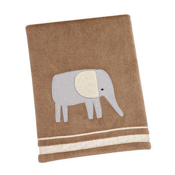 Crown Craft Sadie & Scout - Elephant Applique Blanket