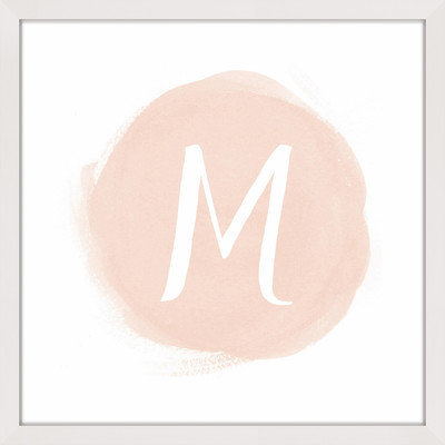 Marmont Hill Inc Marmont Hill - 'Watercolor Monogram' by Shayna Pitch Framed Painting Print