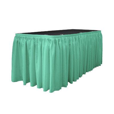 La Linen Table Skirt Color: Mint