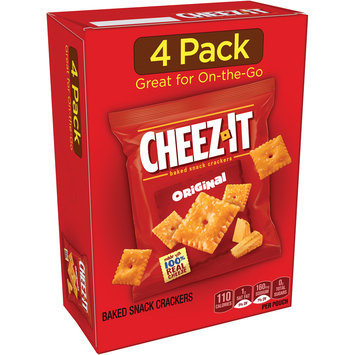 Cheez-It® Original Baked Snack Crackers 4-0.75 oz. Pouches