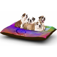 East Urban Home AlyZen Moonshadow 'Musical Tendrils' Dog Pillow with Fleece Cozy Top