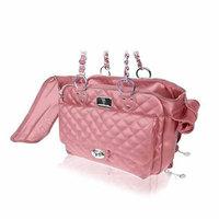 Vanderpump Pets Classic Quilted Luxury Pet Carrier Pink