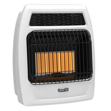 Ghp Group Inc. Dyna-Glo IRSS18LPT-2P 18,000 BTU Liquid Propane Infrared Vent Free Thermostatic Wall Heater