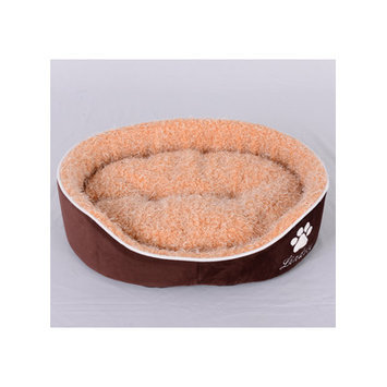Lindsey Home Fashion Faux Lamb Fur Dog Bed Size: Small (23