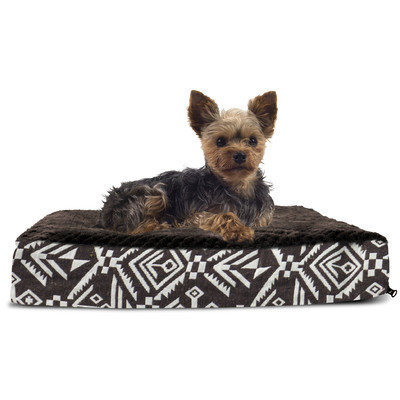 Furhaven Plush Top Kilim Deluxe Orthopedic Dog Pillow Color: Southwest Dark Espresso, Size: Large (36