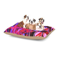 East Urban Home Ebi Emporium 'Effloresence' Dog Pillow with Fleece Cozy Top Size: Large (50