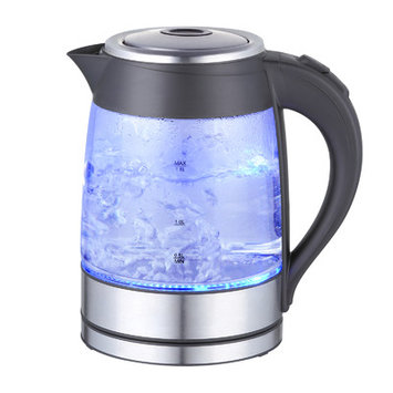 Mega Chef 1.9-qt. Glass and Stainless Steel Electric Tea Kettle