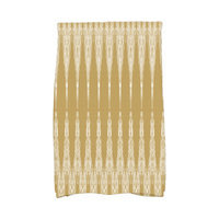 Bungalow Rose Molly Rugby Stripe Geometric Hand Towel Color: Gold