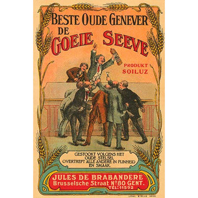 Buyenlarge 'Beste Oude Genever de Goeie Seeve' by Litho Myncke Vintage Advertisement Size: 66