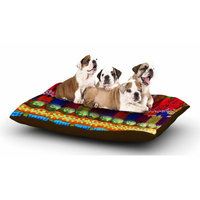 East Urban Home S Seema Z 'Boho Mania' Ethnic Dog Pillow with Fleece Cozy Top
